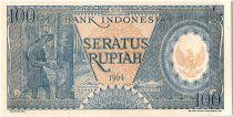 Indonesia 100 Rupiah,  Rubber Plantation - 1964 - P.58