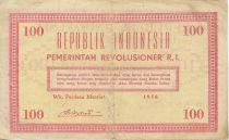 Indonesia 100 Rupiah Pink