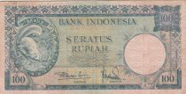 Indonesia 100 Rupiah Squirrel - Presidential palace - 1957 - P.51 VF
