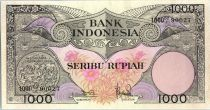 Indonesia 1000 Rupiah Bird of Paradise - 1959