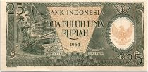 Indonesia 10000 Rupiah - 1964 - UNC - Serial PAK