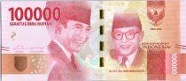 Indonesia 100000 Rupiah Dr. Ir. Soekarno - Dr. Mohammad Hatta 2016 (2017)