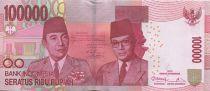 Indonesia 100000 Rupiah Soekarno and Hatta - Parliament bldg 2013