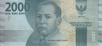 Indonesia 2000 Rupiah M. Hoesni Thamrin - Ngaral Sianok 2016 (2017)
