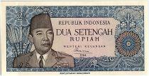 Indonesia 2.5 Rupiah,  President Sukarno - Javanese dancer - 1964 - P.81 a