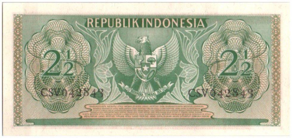 Indonesia 2.50 Rupiah Old man