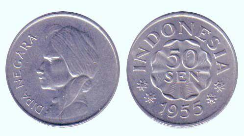 Indonesia 50 Sen KM.10.1