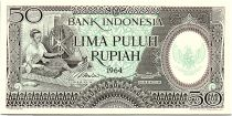 Indonesia 50Rupiah - 1964 - UNC - Serial BAV