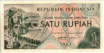 Indonésie 1 Rupiah,  Moisson - 1961 - P.78