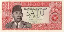 Indonésie 1 Rupiah,  Président Sukarno - Danseur - 1964 - P.80 b