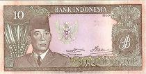 Indonésie 10 Rupiah,  Président Sukarno - Femmes - 1960 - P.83
