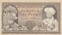 Indonésie 100 Rupiah Lion, Prince Diponegoro - 1952