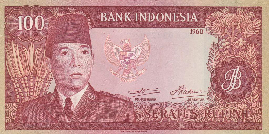 Indonésie 100 Rupiah Président Sukarno - 1960