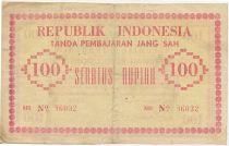 Indonésie 100 Rupiah Rose