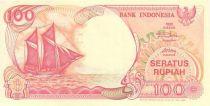 Indonésie 100 Rupiah Voilier Pinisi