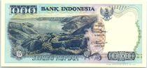 Indonésie 1000 Rupiah Lac Toba - Atraction sur l\'île de Nias - 1998