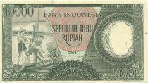 Indonésie 10000 Rupiah Pêcheurs - 1964