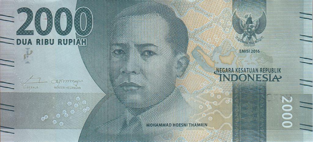 Indonésie 2000 Rupiah M. Hoesni Thamrin - Ngaral Sianok 2016 (2017)