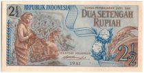 Indonésie 2.50 Rupiah Récolte du coton