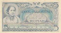Indonésie 5 Rupiah A. Kartini - 1959