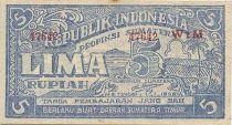 Indonésie 5 Rupiah Bleu