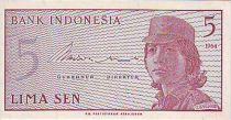 Indonésie 5 Sen Femme soldat