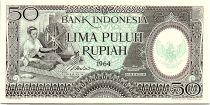 Indonésie 50 Rupiah - 1964 - Neuf - Série BAV