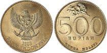 Indonésie 500 Rupiah Emblème National - 2003