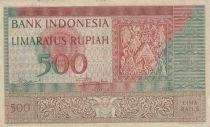 Indonésie 500 Rupiah Frise en pierre - 1952