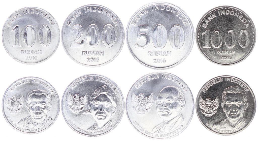 Indonésie Série de 4 pièces 100 à 1000 Rupiah 2016