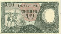 Indonesien 10000 Rupiah Fishermens - 1964