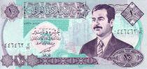 Irak 10 Dinars Saddam Hussein - Statue