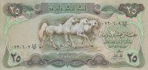 Irak 25 Dinars - Chevaux - Palace Abbaside - 1980