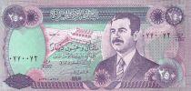 Irak 250 Dinars Saddam Hussein - Barrage