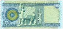 Irak 500 Dinars Barrage - Statue Winged - 2013