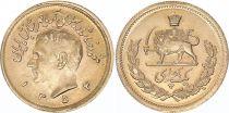 Iran 1 Pahlavi 1355 (1977) - Shah Reza Pahlavi -  Gold - KM.1200