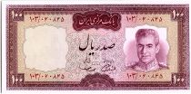 Iran 100  Rials , Mohammad Reza Pahlavi - 19(69-71) -  P.86 b