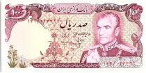 Iran 100 Rials , Mohammad Reza Pahlavi - 19(74-79) P.102 b