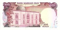 Iran 100 Rials , Mohammad Reza Pahlavi - Surcharge Rép Islamique  - 1980 - P.112 a