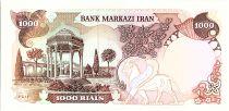 Iran 1000 Rials , Mohammad Reza Pahlavi - Surcharge Rép Islamique  - 1980 - P.115 b