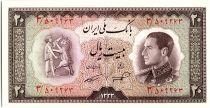 Iran 20  Rials , Mohammad Reza Pahlavi - 1954 -  P.65