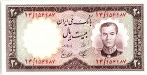 Iran 20  Rials , Mohammad Reza Pahlavi - 1958 -  P.69