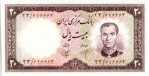 Iran 20  Rials , Mohammad Reza Pahlavi - 1961 -  P.72