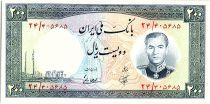 Iran 200  Rials , Mohammad Reza Pahlavi - 1958 -  P.70