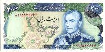 Iran 200 Rials , Mohammad Reza Pahlavi - 19(74-79) P.103 b