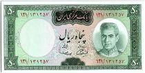 Iran 50  Rials , Mohammad Reza Pahlavi - 19(69-71) -  P.85 a