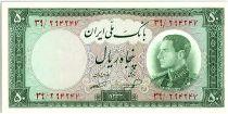 Iran 50  Rials , Mohammad Reza Pahlavi - 1954 -  P.66