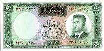 Iran 50  Rials , Mohammad Reza Pahlavi - 1964 -  P.76