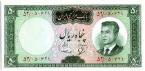Iran 50  Rials , Mohammad Reza Pahlavi - 1965 -  P.79 a