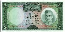 Iran 50  Rials , Mohammad Reza Pahlavi - 1971 -  P.90